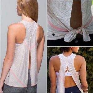 Lululemon   All tied up Striped tank top